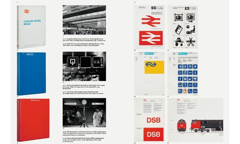 Corporate Identity Manual British Rail | Nederlandse Spoorwegen design manual Spoorstijl | Danske Statsbaner DSB Design Manual