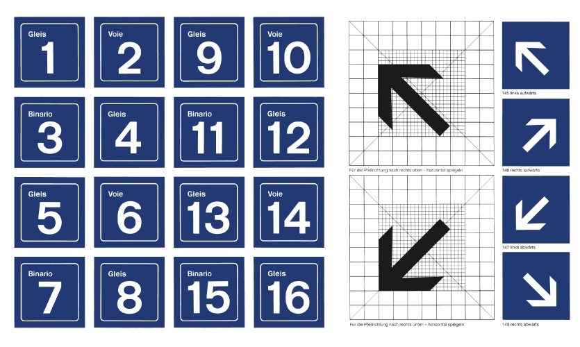 Numerals and arrows from the Visual Information System