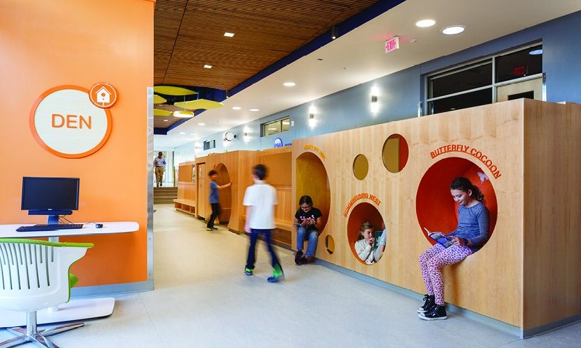 The designers looked to create interaction and a sense of discovery in every part of the school.  (Photo: Lincoln Barbour)