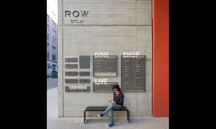 At the new downtown development ROW DTLA, Rios Clementi Hale Studios used place-led branding to reveal the story and uniqueness of the place.