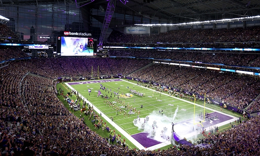 Hear from Tanya Dreesen of the Minnesota Vikings and tour the U.S. Bank Stadium with Selbert Perkins Design and Infinite Scale.