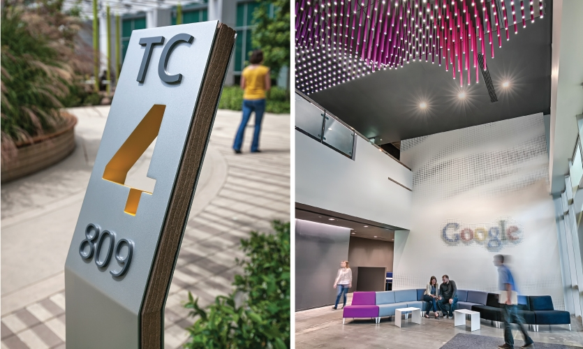 It will cover wayfinding in 4 key industry verticals: transportation, healthcare, education and workplace. (Photo: Google Tech Corners Campus. Design: Media Objectives: VDTA)