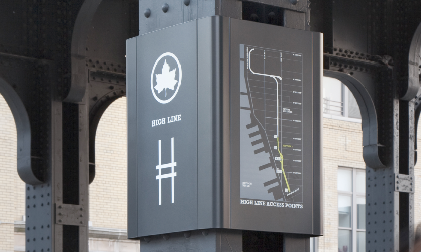 See this award-winning wayfinding project by legendary experiential designer, Paula Scher!