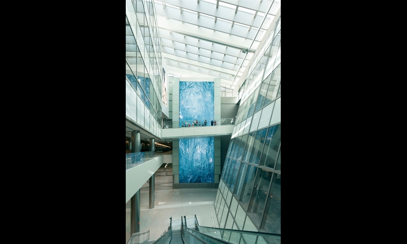 Architectural integration was key to the success of the Integrated Environmental Media System. (Photo: Moment Factory)