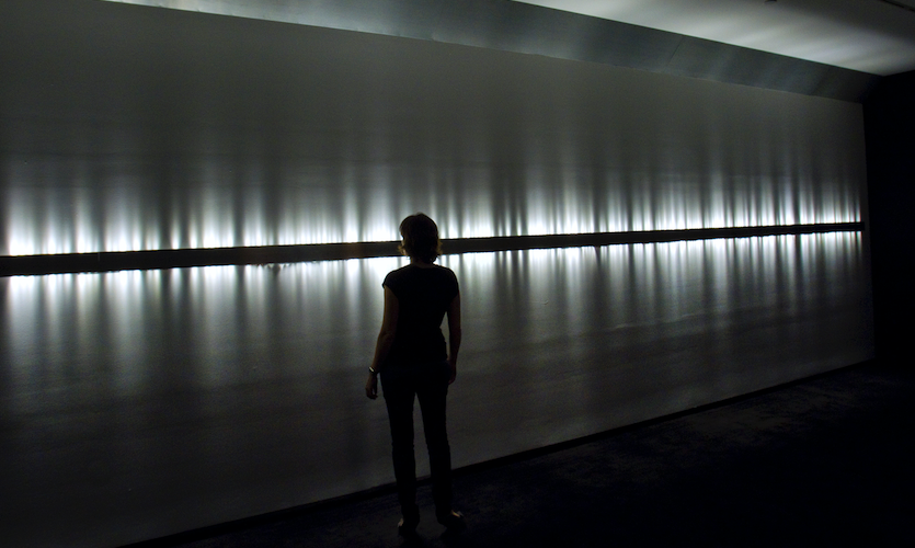 "Rafael Lozano-Hemmer, ""Voice Array, Subsculpture 13"", 2011. Recorders, Museum of Contemporary Art, Sydney, Australia, 2011. Photo by: Antimodular Research."