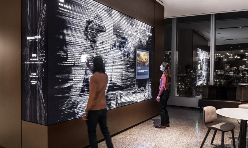 "At Warner Media, the design team employed a ""near touch"" solution, where physical contact with the display isn't required to navigate"