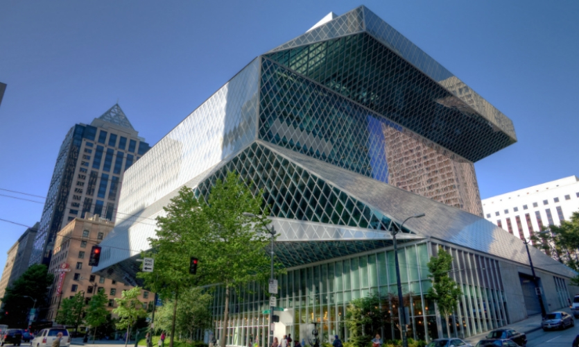 The Rem Koolhaas-designed Seattle Public Library is one of the city's top destinations. (Photo: Howard Frisk)