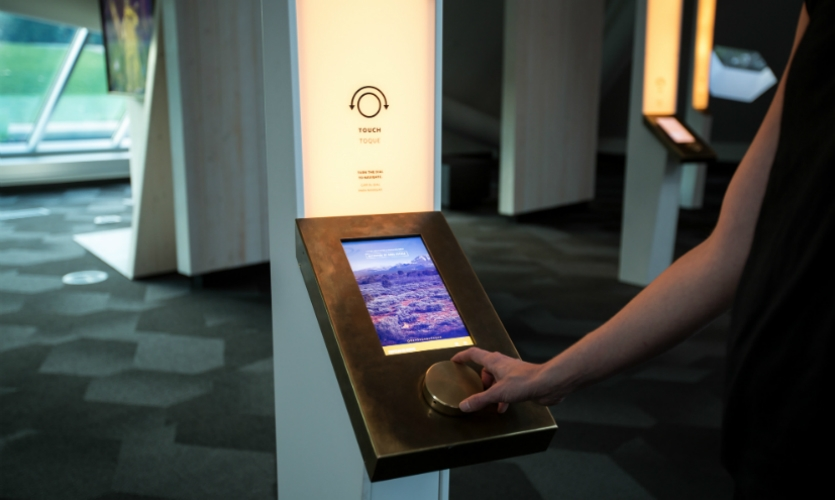 A touch-based interactive experience