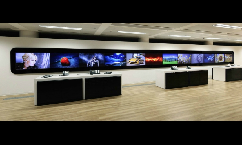 Custom software integrates the experiences. A mobile app allows on-the-fly management of all showroom displays.