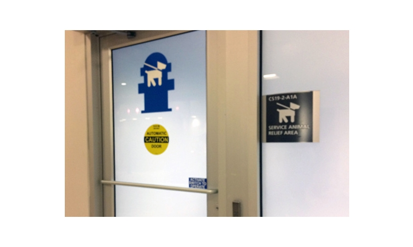 Hartsfield-Jackson International Airport, doorway to Service Animal Relief Area