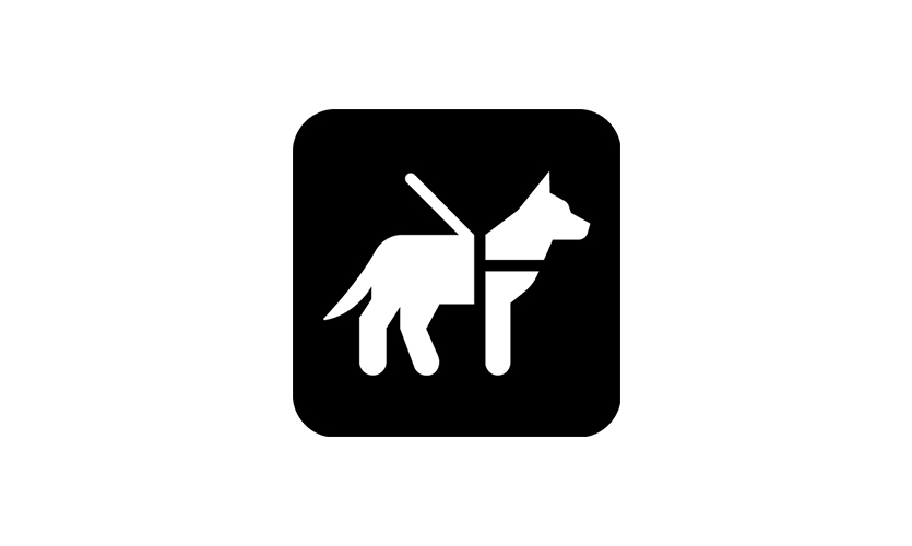 "The new ""Service Animal/Pet Relief Area"" symbol is specifically designed to contrast with the NPS symbol"