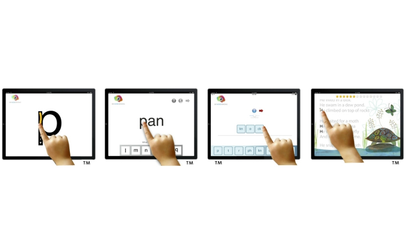Fig. 2. The digital tools help students on the phonemic level, at word level, and at story level.