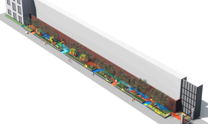 Rendering bird view of Shanghai Playscape.