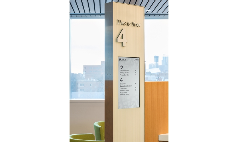 The CMS allows the client to manage, edit and schedule content for all of the nearly 100 digital wayfinding and informational screens in the facility easily.