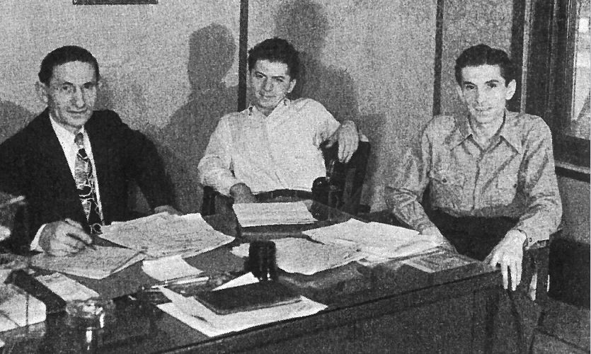 Wolf Skolnick (left) and sons, Samuel and David (Lee's father)