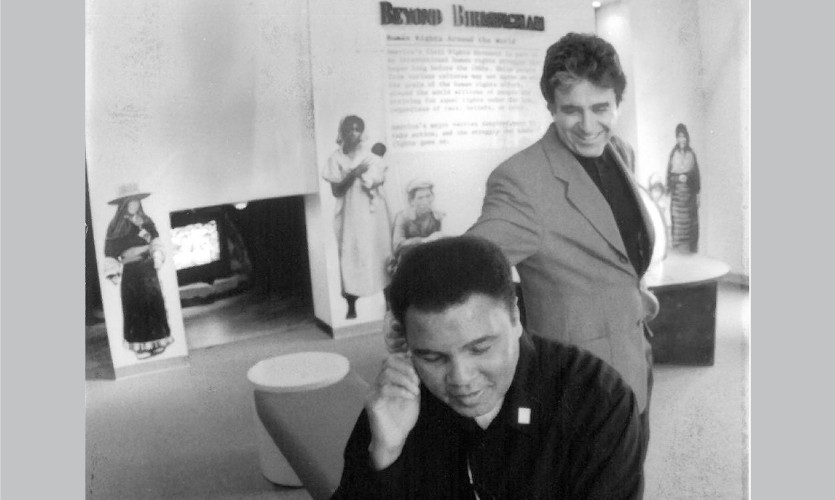 Lee Skolnick and Muhammad Ali, c. 2005 (Photo: LHSA+DP)
