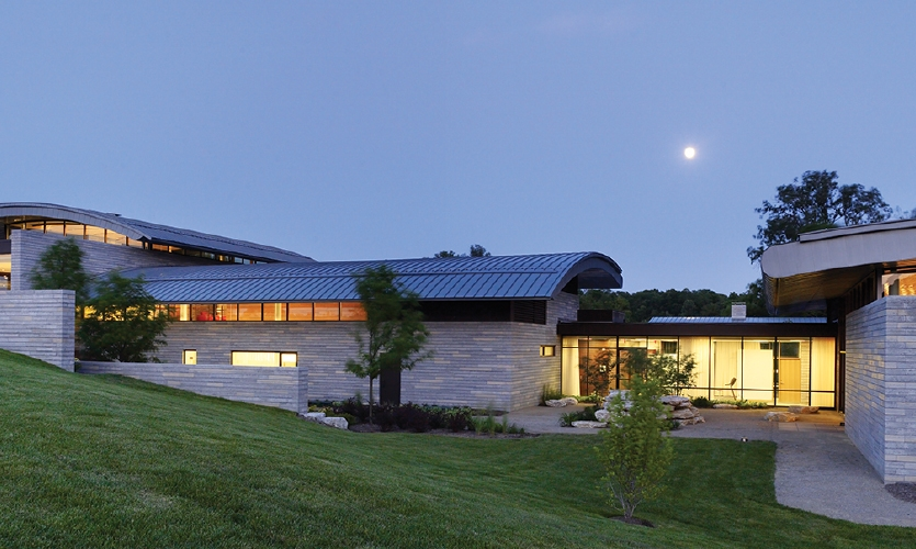 Aileron Exterior at night (Photo: Alan Karchmer)