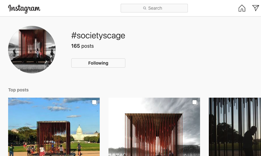 Visitors are encouraged to share photos using hashtag #societyscage.