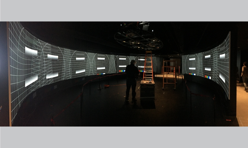 A behind the scenes view of the 360 Landscape setup.