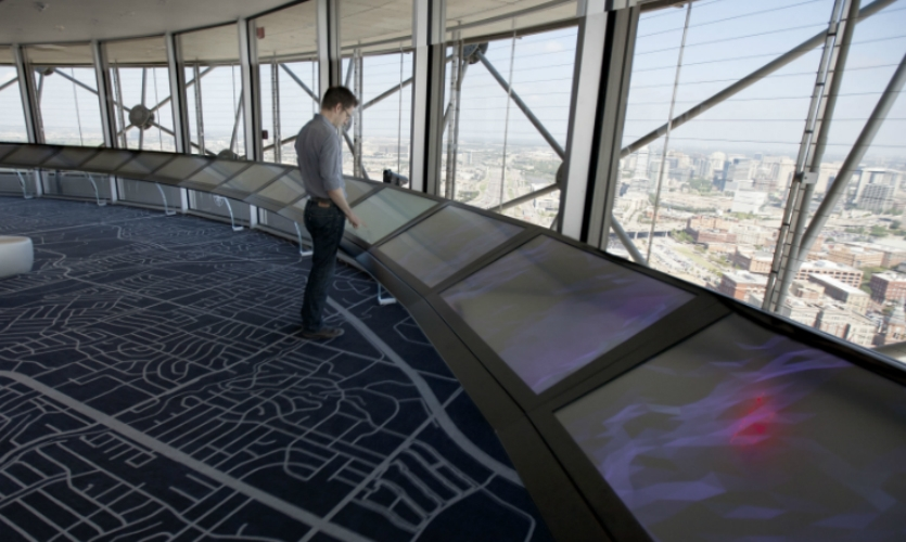 Stimulant partnered with Gensler to refresh Dallas' Reunion Tower with new interactive experiences.