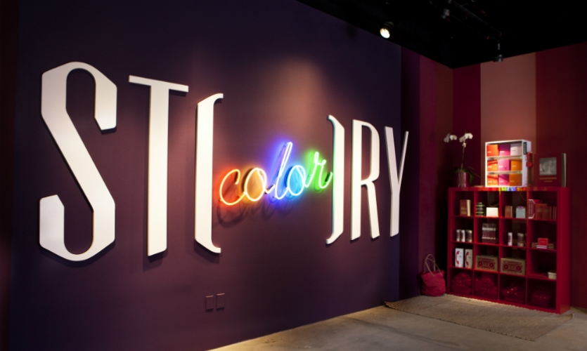 Story, a 2,000-sq.-ft. boutique in Chelsea, changes its look and merchandise every 4 to 8 weeks. Its identity was created by Sagmeister & Walsh. (Photo: Story)