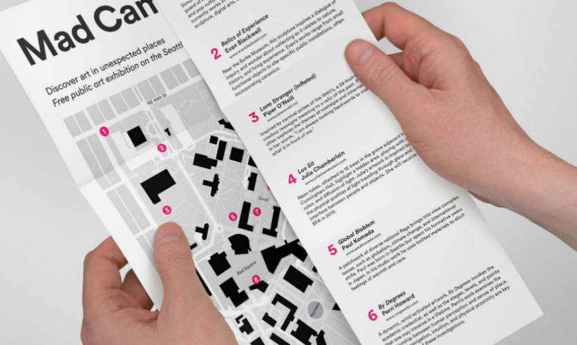 Studio Matthews also created a printed map with information about the artworks.