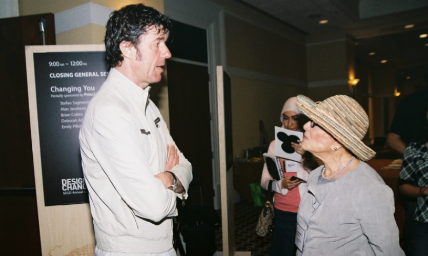 At the 2010 SEGD Conference in Washington, D.C., Sussman chatted with Stefan Sagmeister.