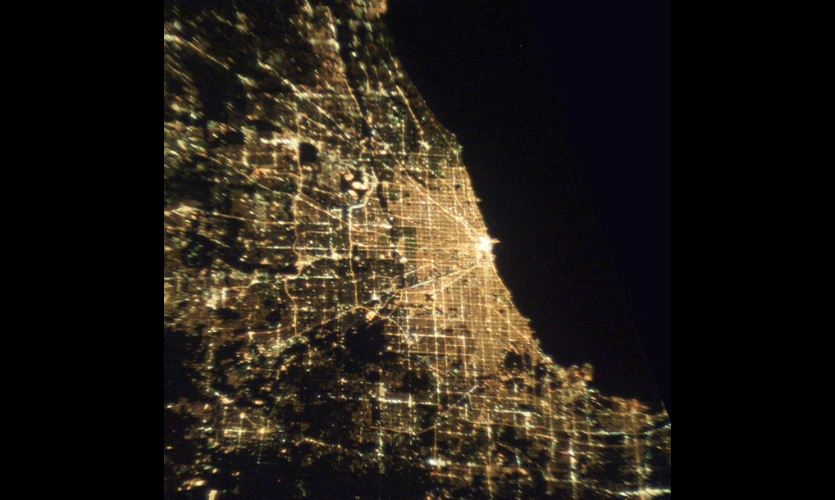 Thirst designers Rick Valicenti and John Pobojewski were inspired by photos of Chicago taken from a NASA satellite.
