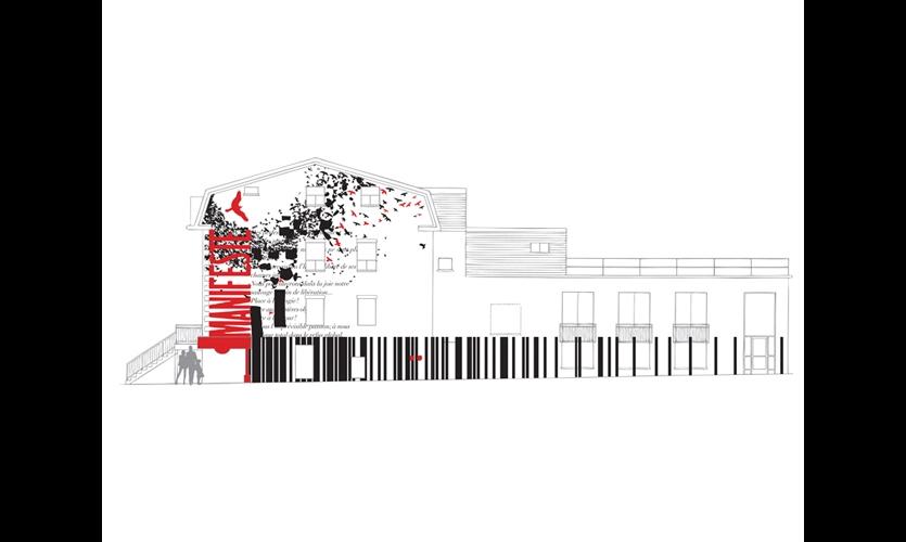 Designer Thomas Csano combined visual elements of six Borduas pieces. (Images: Thomas Csano)
