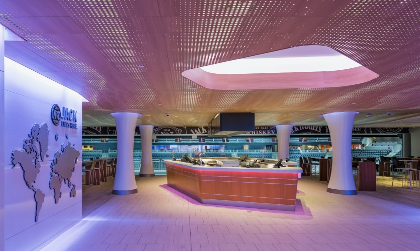 Branded lounges and clubs include names like Jack Daniels, Optum, Bud Light and Goose Island.