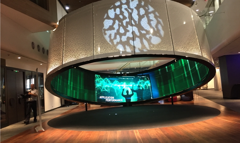 Project: Telstra Customer Insights Center | Designed by Downstream, fabricated by NanoLumens, photos by Telstra