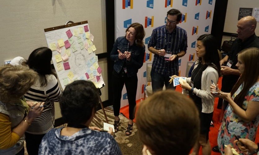 Groups collaborate at the Design Thinking Workshop