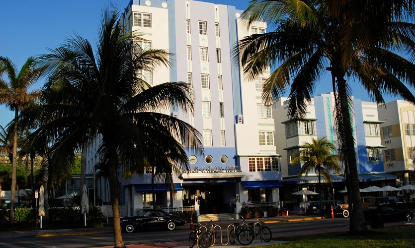 Get an up-close perspective of the signature Art Deco architecture and signage that marks the main avenues of Miami's South Beach.