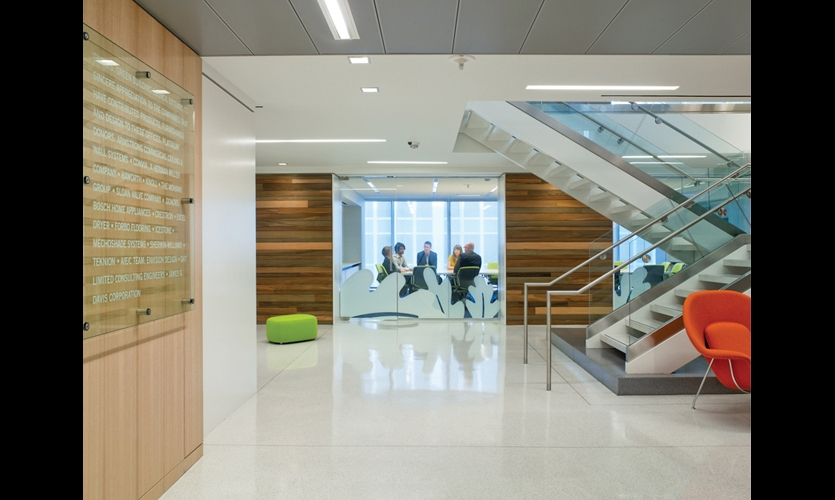 For The Conference Room, Envision Abstracted And Super Scaled The USGBCu0027s  Oak Leaf Logo On