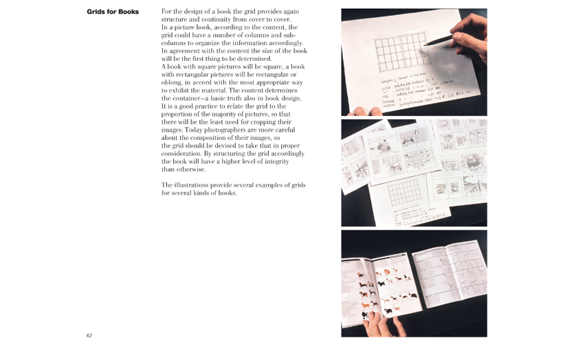 Grids for Books, pages 62 and 63