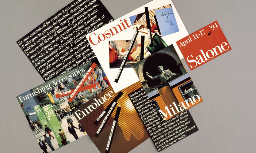 Examples of typographic treatment and layout on pages 74-75