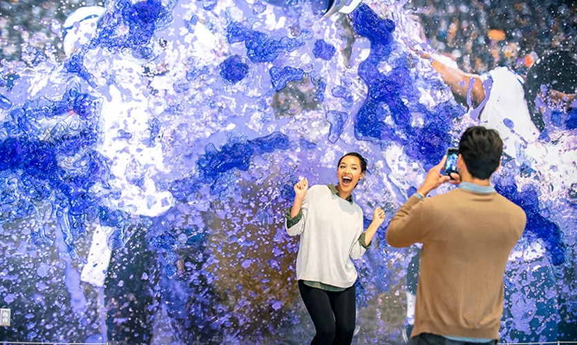 "The ""Gatorade Wall,"" that captures an iconic moment of a victory celebration and allows visitors to be able to insert themselves into the action."