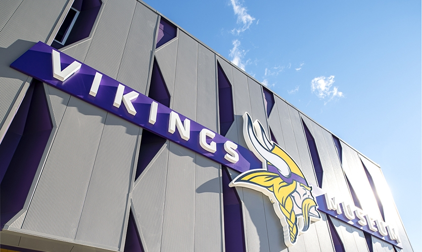 The Minnesota Vikings Museum, which opened in July 2018, is an anchor point of the larger Viking Lakes development.