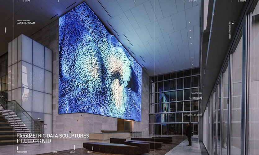 Virtual Depictions:San Francisco is a public art project by media artist Refik Anadol, commissioned for 350 Mission Building in San Francisco.