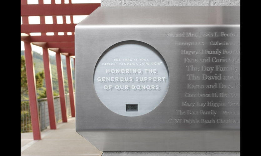Brodsley transformed a typical plaque into a cornerstone time capsule, complete with a countdown clock ticking off the seconds until the capsule will be opened.