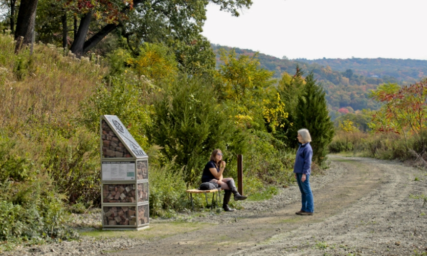 Five kiosks define the various portals to the site. They acknowledge Scenic Hudson, list site rules and regulations, and provide interpretive information.