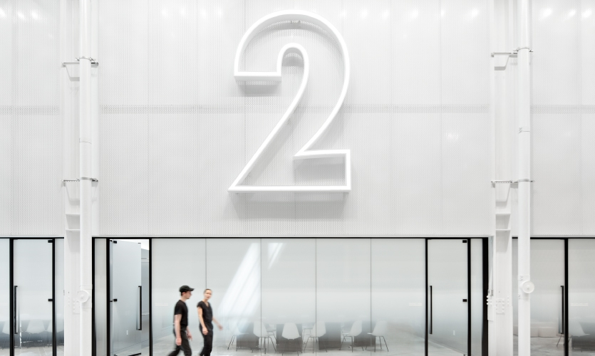 VIP Showrooms are denoted with enormous LED-lit numerals.
