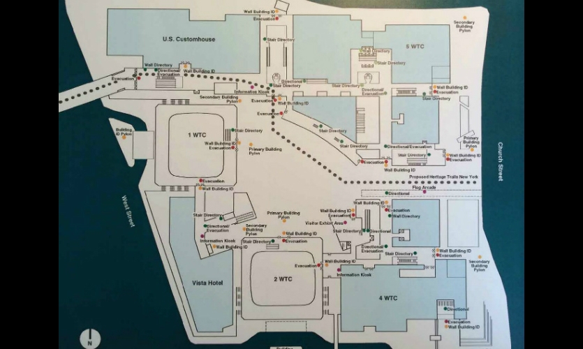The master plan included an emergency evacuation sign system in response to the 1993 bombing. Unfortunately, this system had not yet been installed when the 2001 attacks occurred.