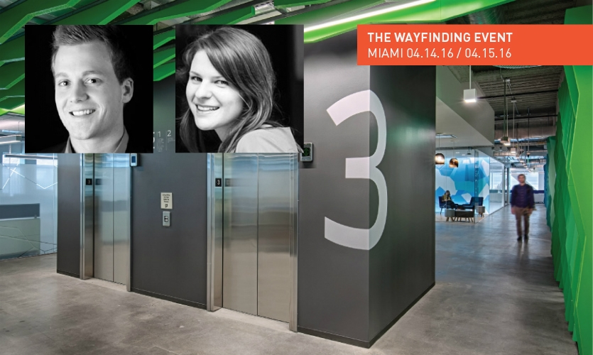 Joe Lawton and Ellen Bean Spurlock, Media Objectives at Valerio Dewalt Train, will lead the Workplace Wayfinding session at The SEGD Wayfinding Event April 14-15 in Miami.