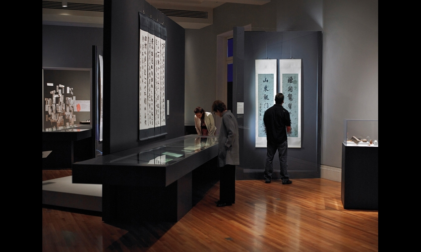 The same modular casework elements were used for horizontal display cases as well as vertical cases and dividers to create traffic flow. Rather than rely on existing track lighting to illuminate the rare paintings, the design team specified energy-efficient LED T5 tube lighting and continuous light strips to light the works from inside display cases.