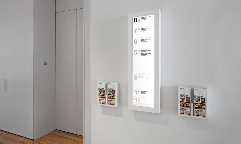 Digital Event Display at Typical Gallery Elevator Landing