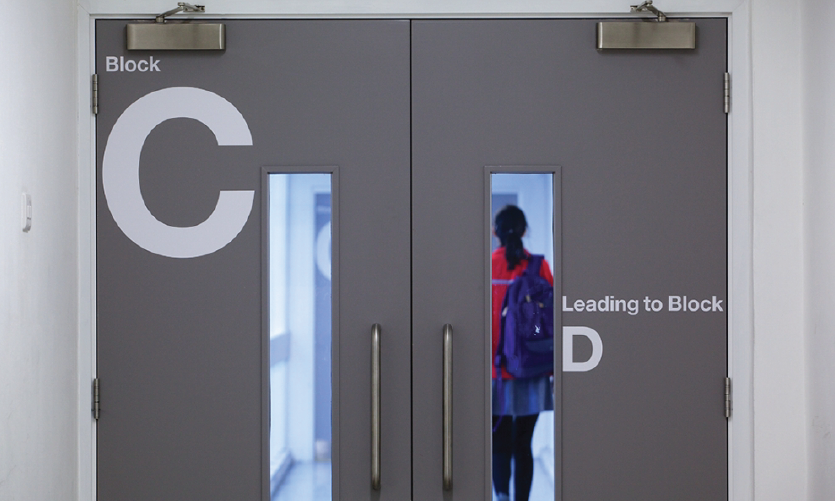 Wayfinding at Camberwell College of Arts by Whybrow Wayfinding (London)