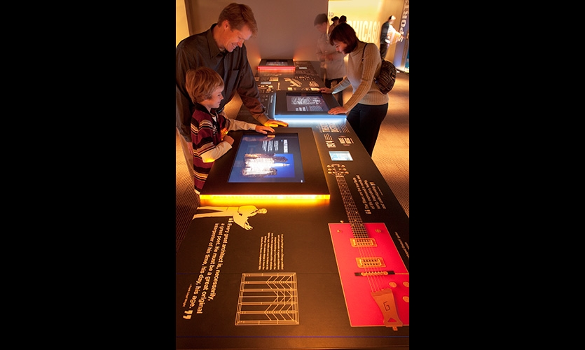 Interactive displays provide a peek into Chicago's history and culture.