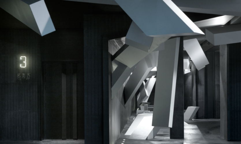 The black and white color scheme adds to the futuristic vibe.