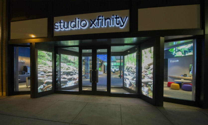 Studio Xfinity is Comcast's new service center prototype. The first store opened recently in Chicago.